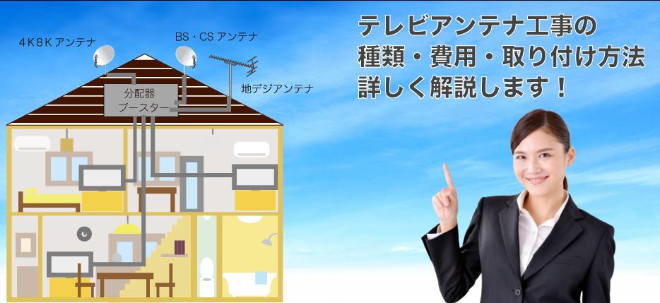 工事 テレビ アンテナ